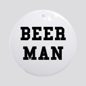 Beer Man Ornament (Round)