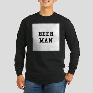 Beer Man Long Sleeve Dark T-Shirt