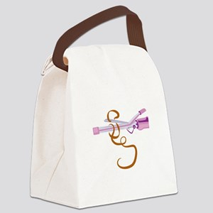 Curling Iron Canvas Lunch Bag