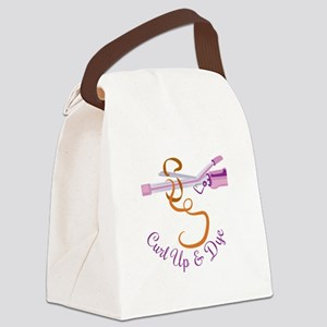 Curl Up Canvas Lunch Bag