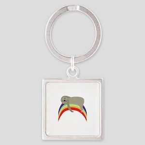 Sloth On Rainbow Keychains