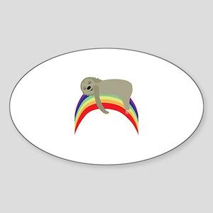 Sloth On Rainbow Sticker