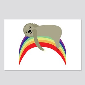 Sloth On Rainbow Postcards (Package of 8)