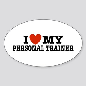 I Love My Personal Trainer Oval Sticker