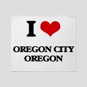 I love Oregon City Oregon Throw Blanket