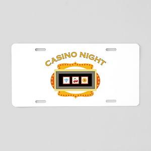 Casino Night Aluminum License Plate