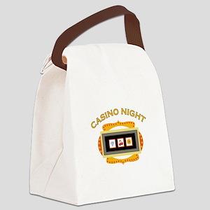 Casino Night Canvas Lunch Bag