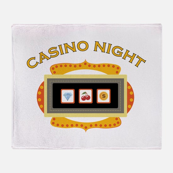 Casino Night Throw Blanket