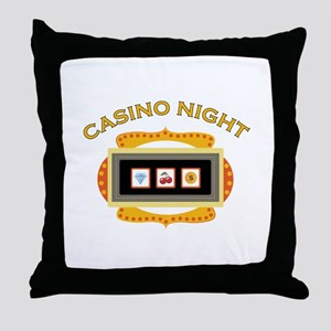 Casino Night Throw Pillow