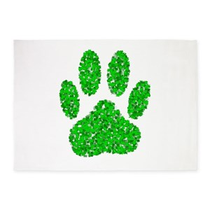Fresh Paw Print Area Rugs - CafePress HA65