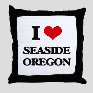 I love Seaside Oregon Throw Pillow