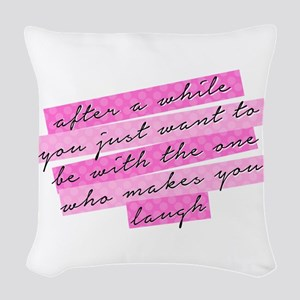 SATC: The One Who Makes You La Woven Throw Pillow