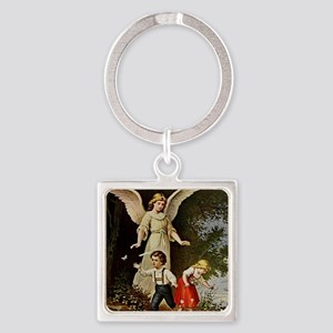 Holy Guardian Angel Square Keychain