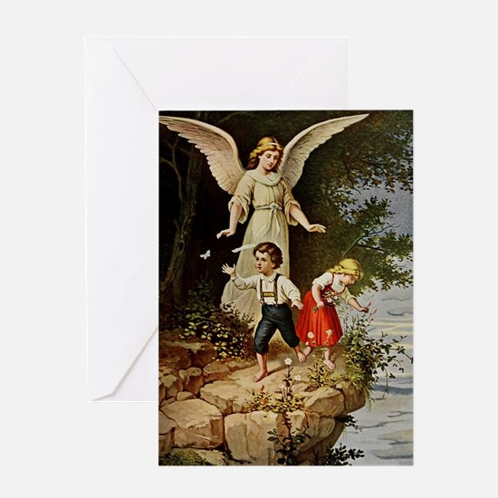 Holy Guardian Angel Greeting Card