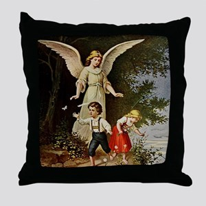 Holy Guardian Angel Throw Pillow