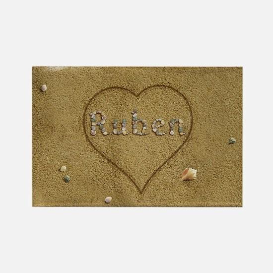 Ruben Beach Love Rectangle Magnet