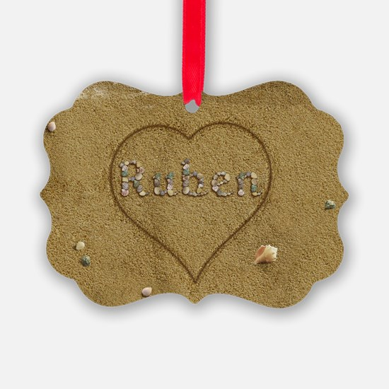 Ruben Beach Love Ornament