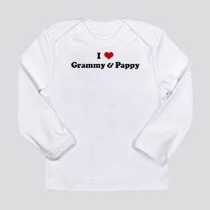 I Love Grammy & Pappy Long Sleeve T-Shirt