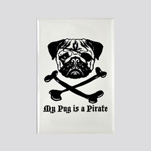 My Pug Is a Pirate Rectangle Magnet