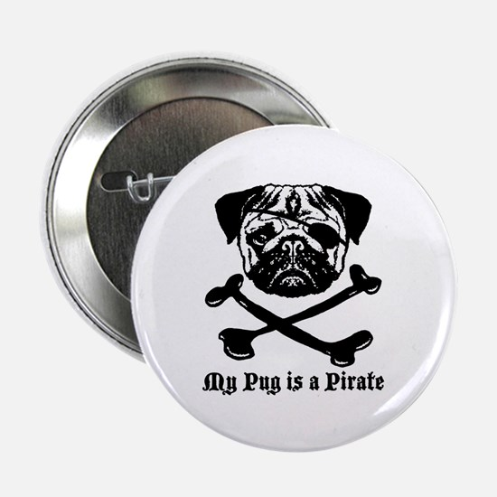 My Pug Is a Pirate Button
