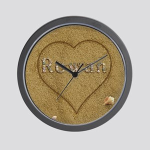 Rowan Beach Love Wall Clock