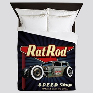 Rat Rod Speed Shop 2 Queen Duvet