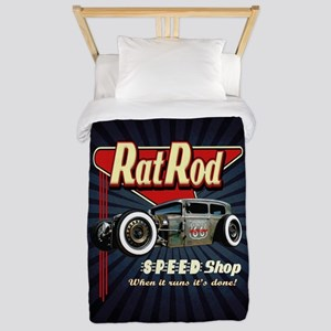 Rat Rod Speed Shop 2 Twin Duvet