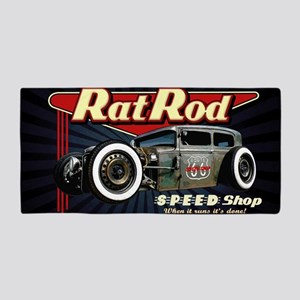 Rat Rod Speed Shop 2 Beach Towel