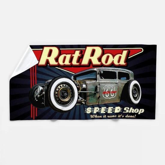 Rat Rod Speed Shop 2 Beach Towel