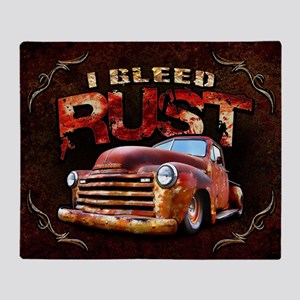 I Bleed Rust Throw Blanket