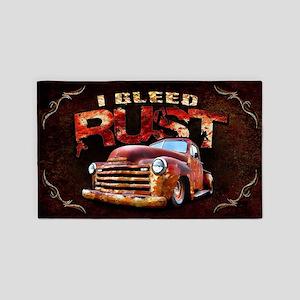 I Bleed Rust Area Rug