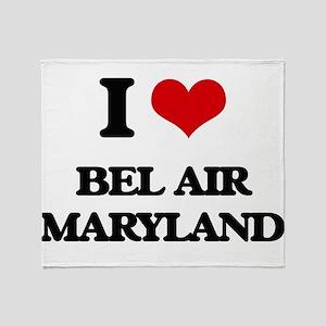 I love Bel Air Maryland Throw Blanket
