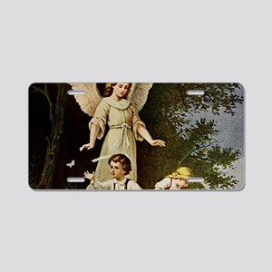 Holy Guardian Angel Aluminum License Plate