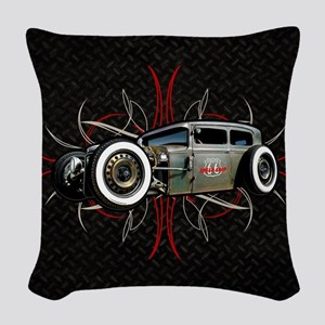 Pinstripe RAT Woven Throw Pillow