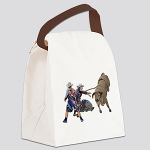Clowns and Bull-2 without Text Canvas Lunch Bag