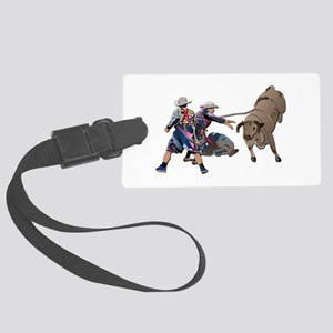Clowns and Bull-2 without Text Large Luggage Tag
