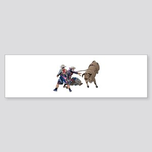 Clowns and Bull-2 without Text Sticker (Bumper)