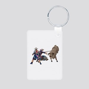 Clowns and Bull-2 without Aluminum Photo Keychain