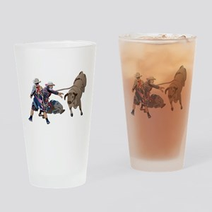Clowns and Bull-2 without Text Drinking Glass