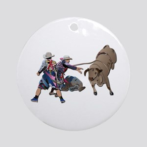 Clowns and Bull-2 without Text Ornament (Round)