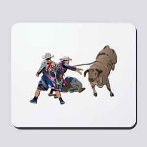 Clowns and Bull-2 without Text Mousepad