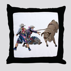 Clowns and Bull-2 without Text Throw Pillow