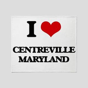 I love Centreville Maryland Throw Blanket