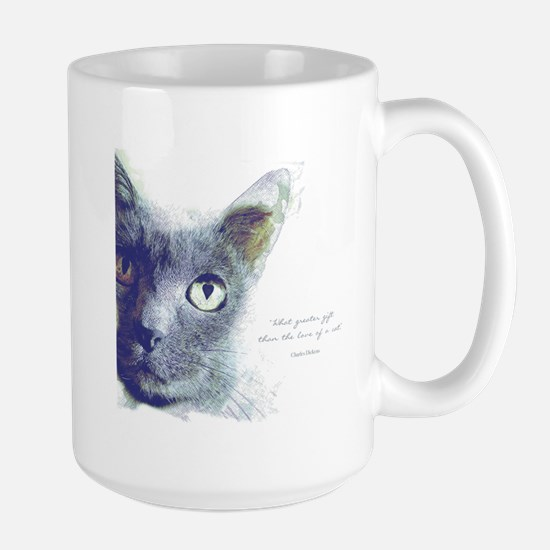 What greater gift than the love of a cat Mugs