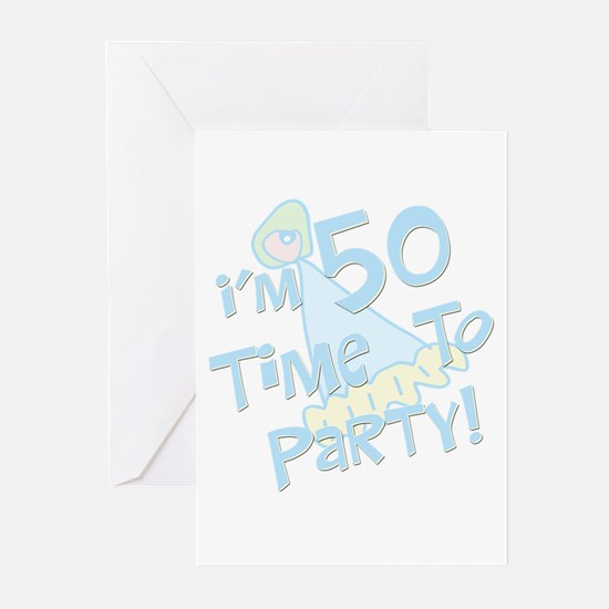 50 years old party Greeting Cards (Pk of 10)