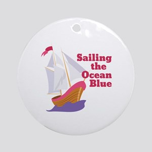 Sailing Ocean Ornament (Round)