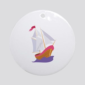 Historic Ship Ornament (Round)