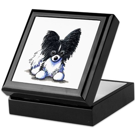 B/W Papillon Keepsake Box