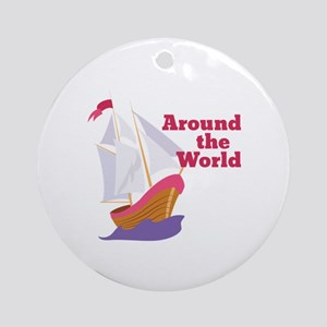 Around the World Ornament (Round)