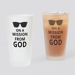 On A Mission From God Drinking Glass